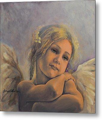 Dreamy Angel Metal Print by Dorina  Costras
