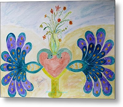 Dreamy Heart Metal Print by Sonali Gangane