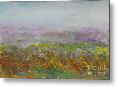 Dreamy Landscape Abstract Metal Print by Anne Cameron Cutri