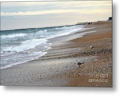 Dreamy Ocean Beach North Carolina Coastal Beach  Metal Print by Kathy Fornal