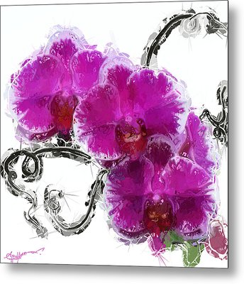 Dreamy Orchids Metal Print by Anthony Fishburne