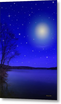 Dreamy Stars At Night Metal Print by Christina Rollo