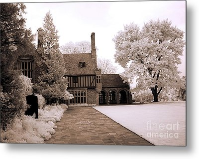 Dreamy Surreal Infrared Michigan Meadowbrook Mansion Landscape Metal Print
