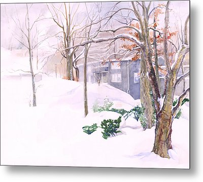 Dressed In Winter White Metal Print by Nancy Watson