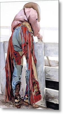 Dressed To Ride Metal Print