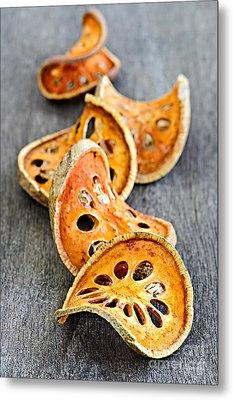 Dried Bael Fruit Metal Print by Elena Elisseeva