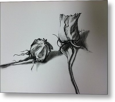 Dried Rose Metal Print by Hae Kim