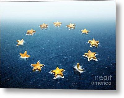 Drifting Europe Metal Print by Carlos Caetano