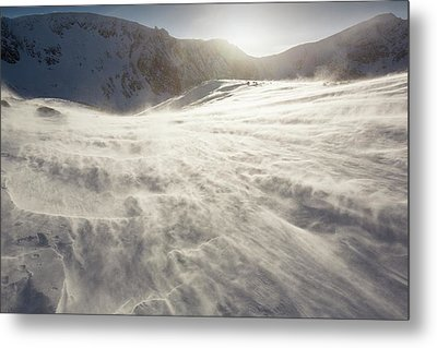 Drifting Snow In Cairngorm Metal Print by Ashley Cooper