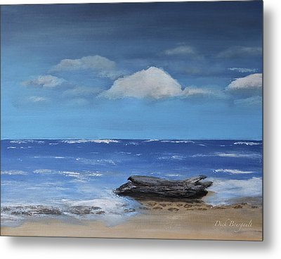 Driftwood Metal Print by Dick Bourgault