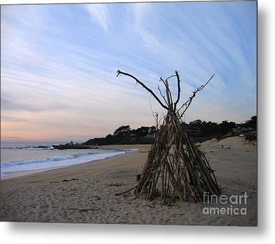 Metal Print featuring the photograph Driftwood Tipi by James B Toy