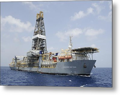 Drillship Discoverer Deep Seas Metal Print