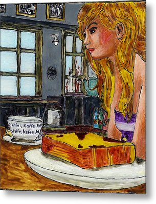 Drink Coffee Metal Print