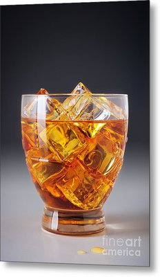 Drink On Ice Metal Print