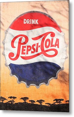 Drink Pepsi  Metal Print by Donna Kennedy