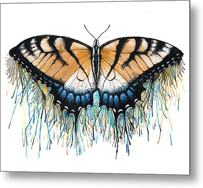 Drip-dry Beauty Metal Print by Danielle Trudeau