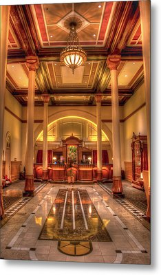 Metal Print featuring the photograph Driskill Hotel Check-in by Tim Stanley