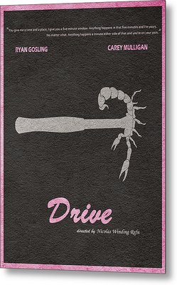 Drive Metal Print by Ayse Deniz