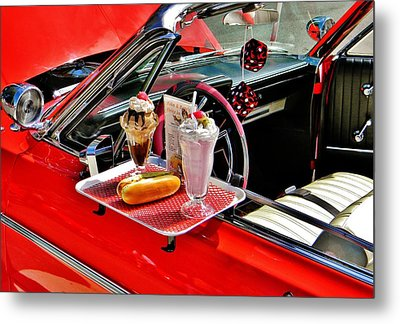 Drive-in Diner Metal Print by Jean Goodwin Brooks