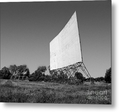 Metal Print featuring the photograph Drive In Theater by Tom Brickhouse