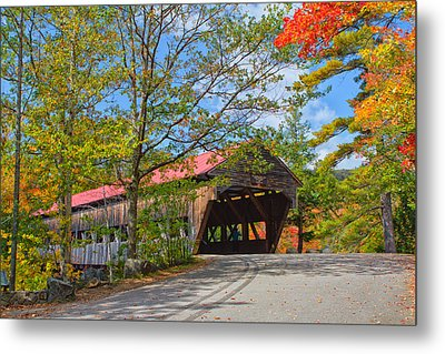 Drive In To Albany Covered Bridge #49 Metal Print by Shell Ette