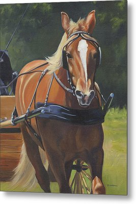 Metal Print featuring the painting Drive On by Alecia Underhill