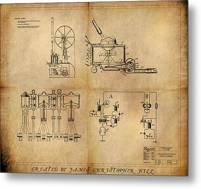Drive System Assemblies Metal Print by James Christopher Hill