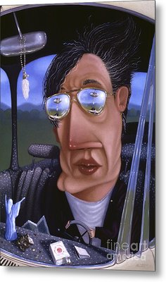 Driving 1995 Metal Print by Larry Preston