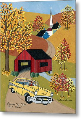 Driving My Baby Back Home Metal Print