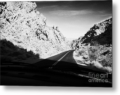 Driving Through Canyons On The White Domes Road Scenic Drive Valley Of Fire State Park Nevada Usa Metal Print by Joe Fox
