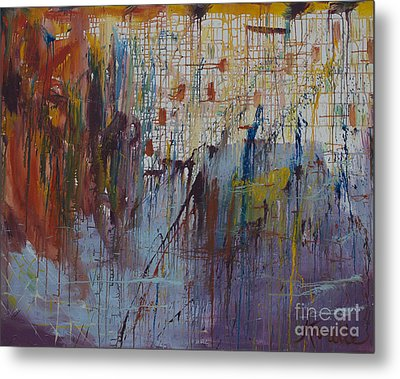 Drizzled Metal Print