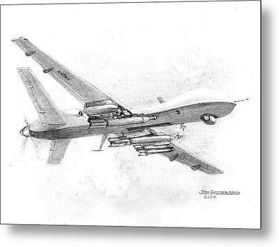 Drone Mq-9 Reaper Metal Print by Jim Hubbard