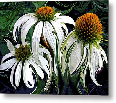 Droopy Daisies Metal Print by Suzy Freeborg