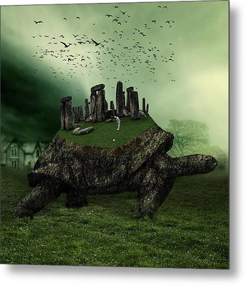 Druid Golf Metal Print by Marian Voicu