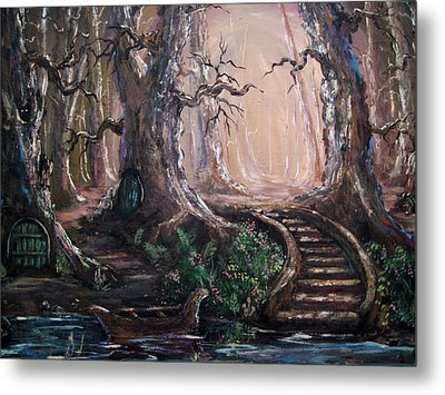 Metal Print featuring the painting Druid Walk by Megan Walsh