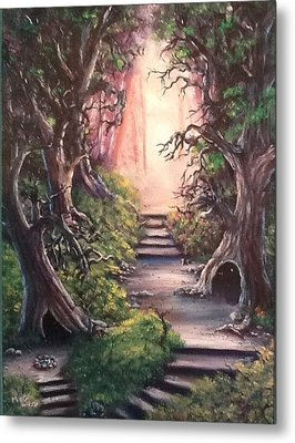 Metal Print featuring the painting Druid's Walk by Megan Walsh