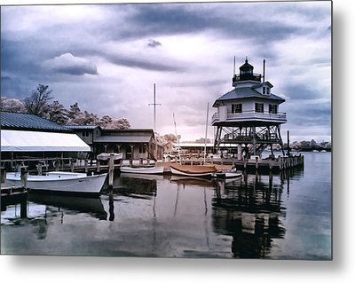 Drum Point In Infrared Watercolor Metal Print