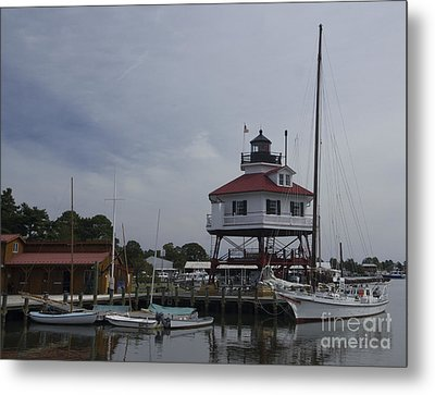 Metal Print featuring the photograph Drum Point Light by ELDavis Photography
