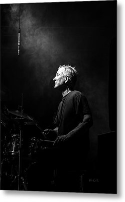 Drummer Portrait Of A Muscian Metal Print by Bob Orsillo