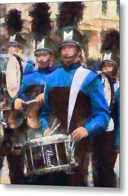 Drummers Metal Print by Susan Savad