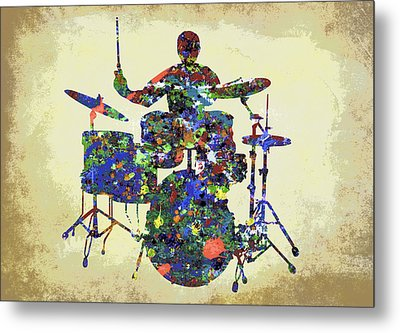 Drums In The Spotlight Metal Print