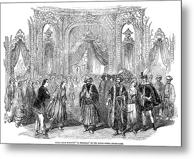 Drury Lane Theatre, 1854 Metal Print by Granger