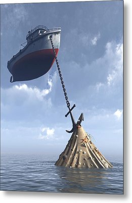 Dry Dock Metal Print by Cynthia Decker
