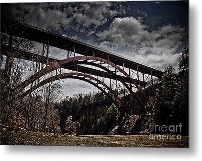 Metal Print featuring the photograph Dual Arched Bridge by Jim Lepard