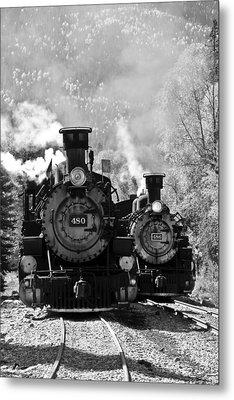 Dual Steam Engines Metal Print by Marta Alfred