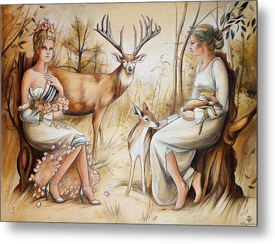 Duality Of The Matriarch Metal Print by Jacque Hudson