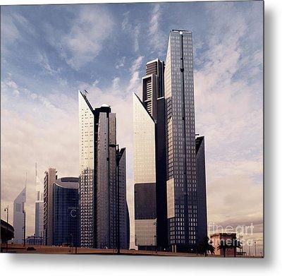 Dubai Skyline Metal Print by Jelena Jovanovic