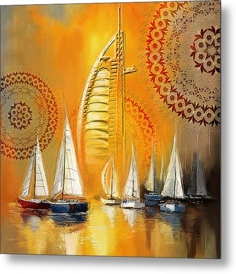 Dubai Symbolism Metal Print by Corporate Art Task Force