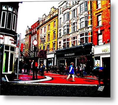 Metal Print featuring the photograph Dublin City Vibe by Charlie and Norma Brock