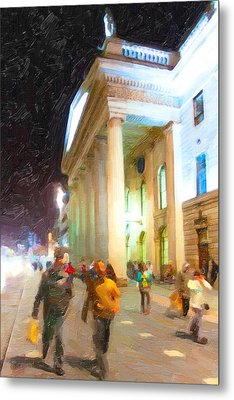 Dublin Ireland Post Office At Night Metal Print by Mark E Tisdale